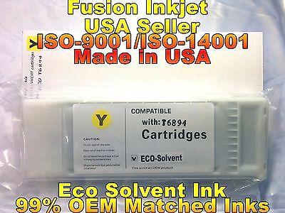 compatible Epson SureColor s30670 s50670 yellow eco solvent ink cartridge xcv
