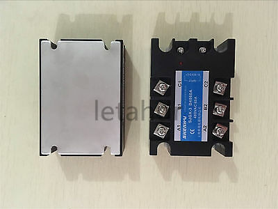 Three Phase Solid State Relay Ssr 25a 40a 60a 100a 3-32vdc Input 480vac Output