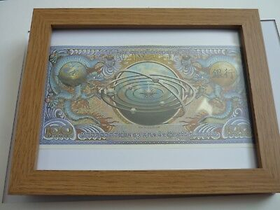 Framed 100cc replica Loot crate original bank note Firefly Tv show movie Framed