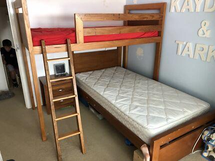 Bed Shed king single bedroom suite Tasmanian Oak