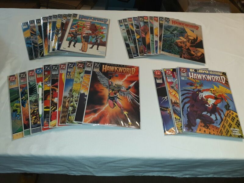 """Lot of 34 DC """"Hawkworld"""" Issues 1-32 (Missing #16) + Annuals 1,2,3 + More.."""