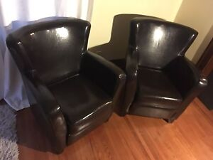 Two like new chairs for home or office