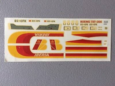 IBERIA Spanish airlines b727 200 decals for AIRFIX KIT SCALE 1/144