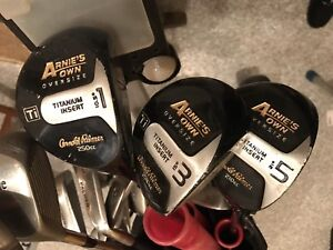 Full set of Arnie's Own Oversize golf clubs plus extras