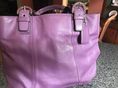 COACH Purple Leather Handbag