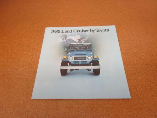 1980 Toyota Land Cruiser sales brochure literature 4 page folder ORIGINAL
