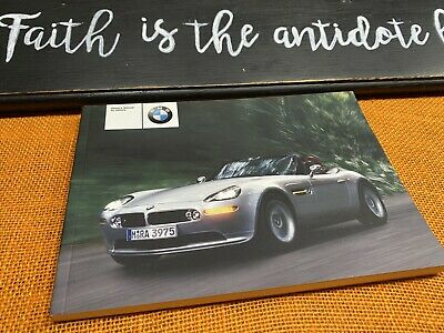 2002 2001 BMW Z8 OWNERS MANUAL HANDBOOK NEW OLD STOCK (discontinued) NEW FAST S