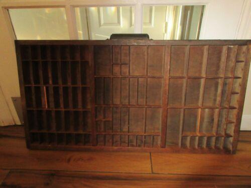 Vintage Printers Drawer Shadowbox Display Metal Handle Drawer Plate Large #2