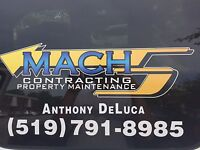 Property and lawn maintenance,  Landscaping and snow removal