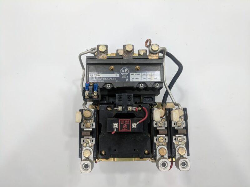 Allen Bradley 709-DOD804 709-D0D804 Size 3 Series K 3-Ph 3-Pole Motor Starter