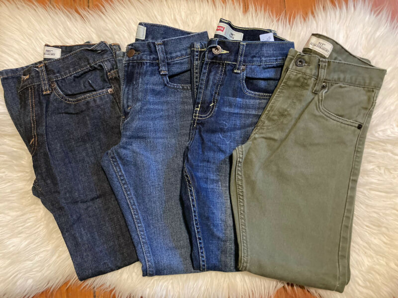 Boy's Levi's Jeans Lot 12 Denim straight Taper 505 508 513