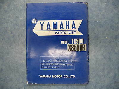 1974 USED <em>YAMAHA</em> TX500 XS500B PARTS LIST TX 500 XS500 <em>XS 500</em> 500B 74 P