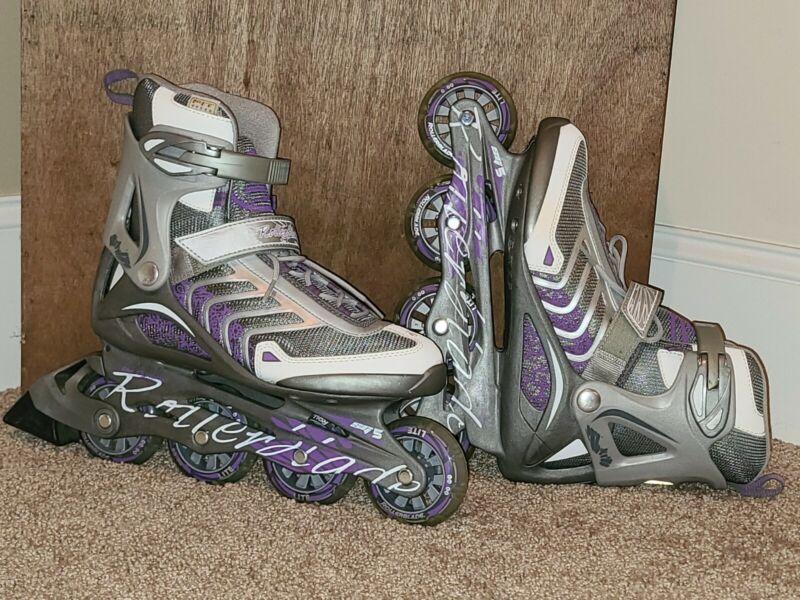 Rollerblade Spiritblade - Womens Size 9 Grey White Purple NEW w/o Box