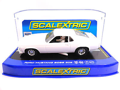 Scalextric White Ford Mustang Boss 302 DPR 1/32 Slot Car C3579TF