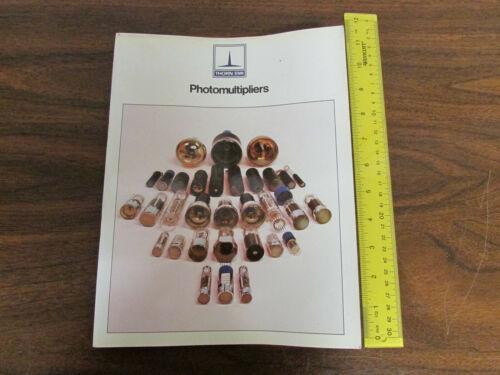 Thorn EMI Photomultipliers Photomultiplier Tubes Catalog 1986