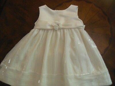 Toddler Girls Dressy Dress Pageant Wedding, 18M, Cream w/Sequins,Cinderella