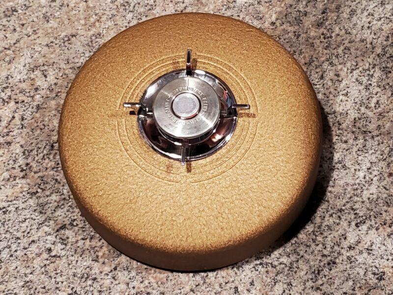 Vintage Vanguard Model V-50 Heat Detector Alarm Factory Golden Brown Key (H3)