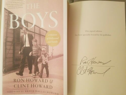 Autographed Clint & Ron Howard SIGNED Book The Boys Memoir Hardcover Autograph