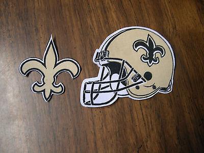 "New Orleans Saints  Iron on Cotton Patch Set of 2   4""x3"" & 2 1/4""x2 3/4""  NEW"