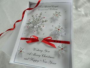 Luxury Personalised Handmade Christmas Card 3D Gift Box