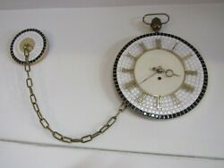 Harris & Mallow Wall Hanging Pocket Watch w/Fob Style Clock