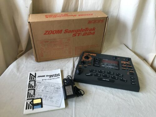 Zoom SampleTrak ST-224 Sampler w/ box power supply 8MB card