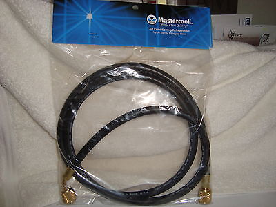 Mastercool 47604 5ft Black Charging Vacuum Ac Hose 14 Fittings Made In Usa