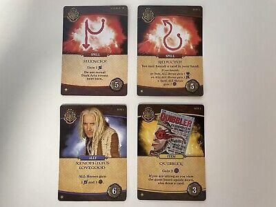 4 x Promo Cards For Harry Potter Hogwarts Battle Deck Building Game