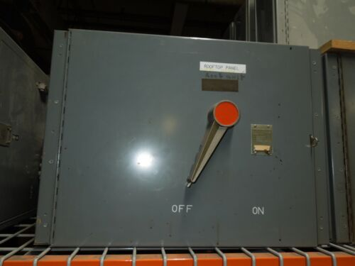 Fpe Qmqb7032 600a 3p 240v Single Fusible Switch Unit Used