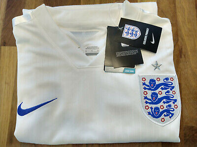 Nike Dri-Fit Mens England Home Jersey White with Blue Lions *SIZE XL*