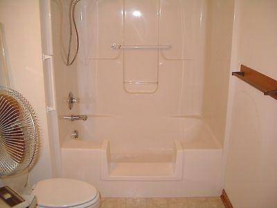 Walk-In Bath To Shower Step Thru Insert DIY Conversion Kit Senior