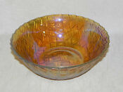 Carnival Glass Basket Weave Bowl