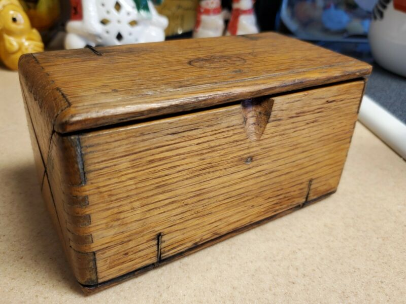 Antique Victorian Singer Sewing Kit Wooden Puzzle Box w/ Parts/Attachments/Tools