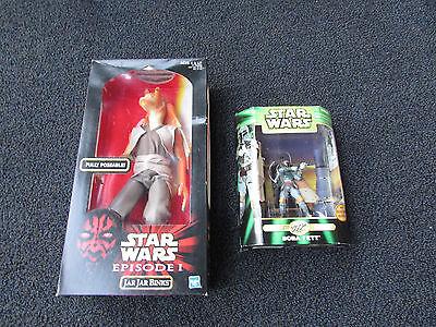 2 Star Wars Figurines (Jar Jar Binks & Boba Fett) ()