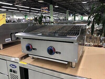 24 Charbroiler Radiant Griddle Grill Countertop Natural Gas - 70000 Btu - New