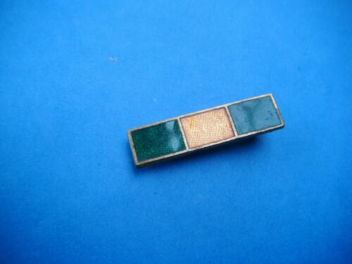Girl Guide Adult Camp Permit Bar Green Amber Green Vintage Enamel pin badge