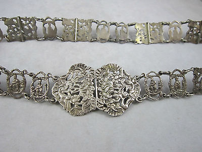 Antique Solid Silver Midwife Nurses Belt 1898/99 S.Clifford London 170g 27.5""