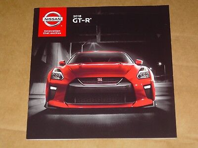 2018 NISSAN GT-R SALES BROCHURE MINT! 16 PAGES