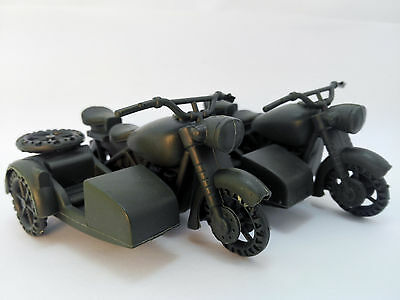 10 pcs Military Motorcycle Side Car Plastic Toy Soldier Army Accessories