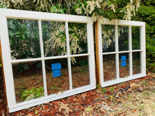 2 - 28 x 25 Vintage Original Window sash old 6 pane from 1970s