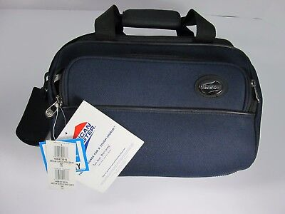 American Tourister Cross Country Tote Blue Carry On Over The Shoulder NEW