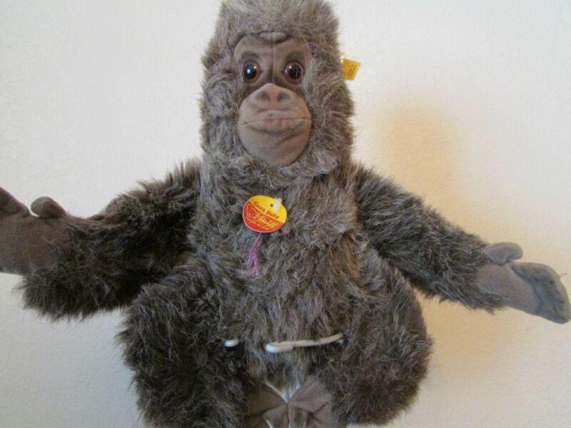 """(RARE """"STEIFF"""") VINTAGE  """"GORA BABY""""  Plush Stuffed Monkey/Ape/Gorilla"""