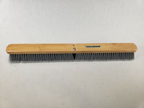 """PRO-SOURCE 30"""" Grey Flagged Push Broom Head Only 165-30 09319328"""