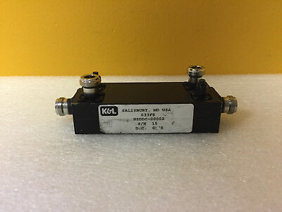 Kl Microwave Wsddc-00002 800 To 980 Mhz Coax Dual Directional Coupler. Tested