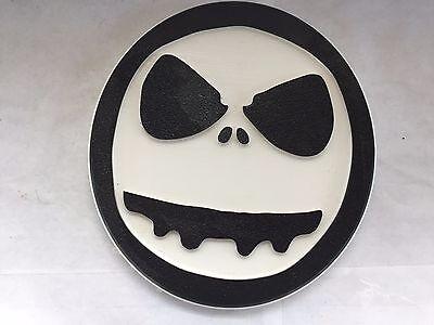 Jack Skellington Gesicht Nightmare Before Christmas Disney Tafel Wandbehang (Jack Skellington Gesichter)