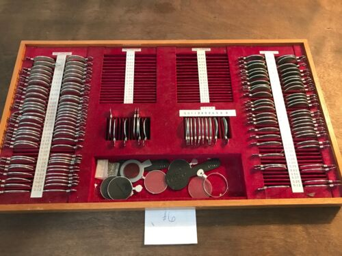 Vintage Eye Glass Trial Lens Set, Ophthalmology Equipment, used