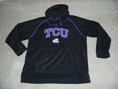 TEAM EDITION APPAREL TCU Fleece Pull Over SEWN Hoodie/Sweatshirt XL ~ MINT - Tcu Apparel