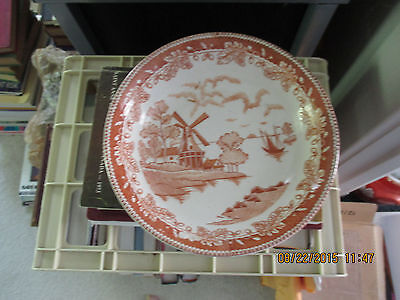 VINTAGE SERVING OR SOUP DISH WINDMILL PATTERN