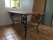 Solid American Oak Wrought Iron Dinning Table Henley Brook Swan Area Preview