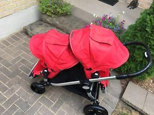Euc double city select stroller